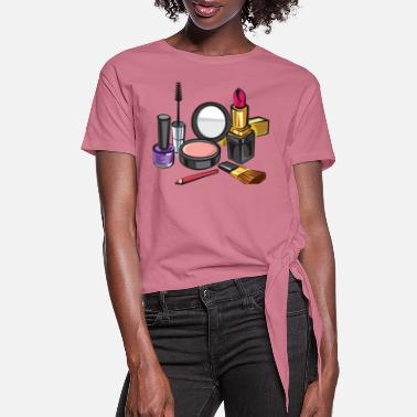 Cosmetics make up cosmetics - Women's Knotted T-Shirt