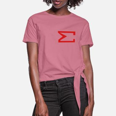 Menage A Trios Sum Sign , Total , Summation, Fabspark - Women's Knotted T-Shirt