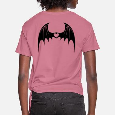 Bat Wings Bat Wings with Love - Women's Knotted T-Shirt