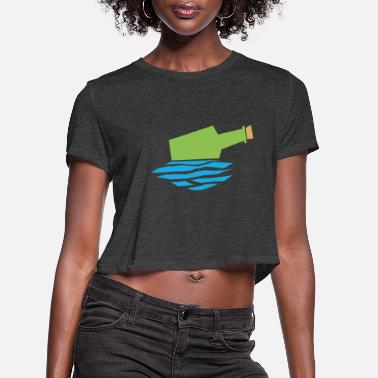 Post BOTTLE POST - Women's Cropped T-Shirt