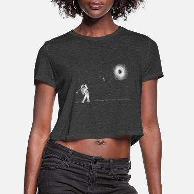 Ast Black hole in one and ast - Women's Cropped T-Shirt