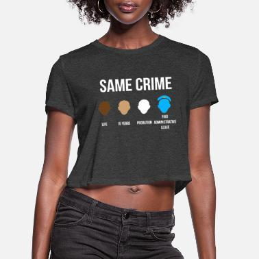 Colin same crime - Women's Cropped T-Shirt