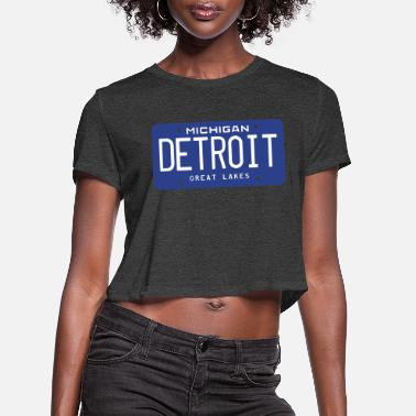 License Plate DETROIT License Plate - Women's Cropped T-Shirt