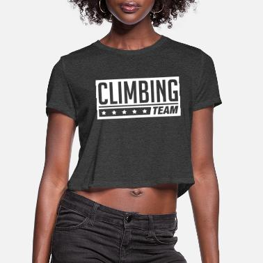 Clilmber team climbing1 - Women's Cropped T-Shirt