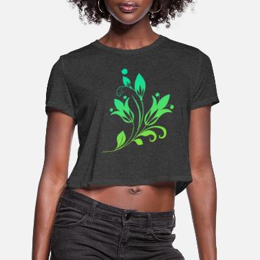 colorful plant! - Women's Cropped T-Shirt