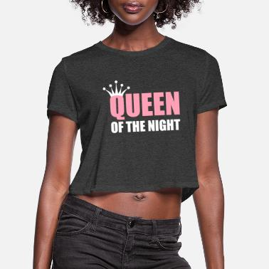 Electronica queen of the night - Women's Cropped T-Shirt