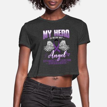 Stomach My Hero Is Now My Angel - Women's Cropped T-Shirt