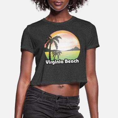 Virginia Vintage Virginia Beach Virginia Retro - Women's Cropped T-Shirt