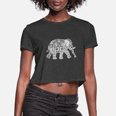 Welfare GIFT - ELEPHANT WHITE - Women's Cropped T-Shirt