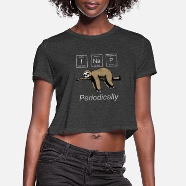 Biology I Nap Periodically, Funny Sloth - Women's Cropped T-Shirt