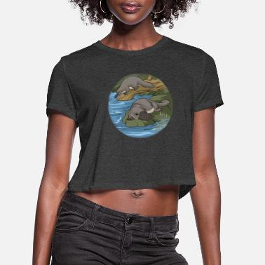 Platypus Be A Platypus Nature Spirit Animal Platypus - Women's Cropped T-Shirt