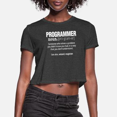 Computer Science Funny Programmer T-Shirt - Code Works Why - Women's Cropped T-Shirt