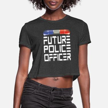 Police Station Police Officer Police Officer - Women's Cropped T-Shirt