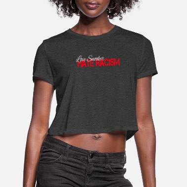 Snooker Love snooker hat racism - Women's Cropped T-Shirt