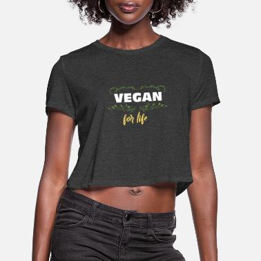 Ecology Vegan For Life - Women's Cropped T-Shirt