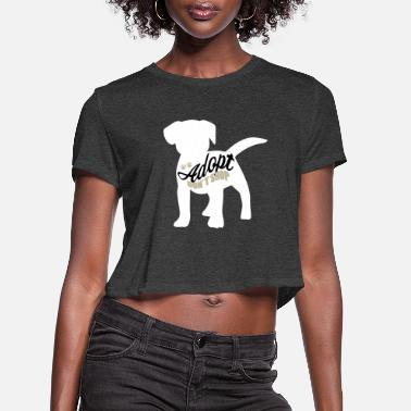 Shelter Dogs from the shelter animal rescuer - Women's Cropped T-Shirt