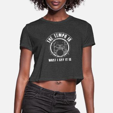 Drum DRUMS - funny Drummer Gift - Women's Cropped T-Shirt