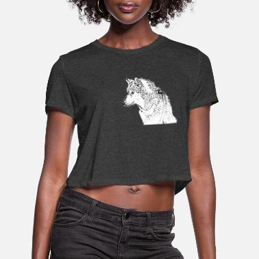 Gray Wolf wolf, Gray wolf - Women's Cropped T-Shirt