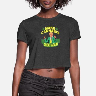 le Président blague trumpweed Faire de mauvaises herbes grand nouveau T Shirt Stoner Parti cadeau top