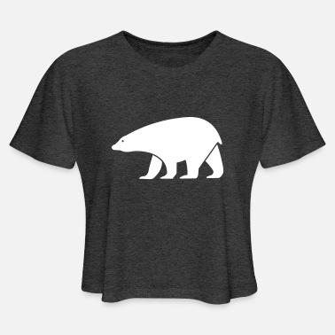 Cold polar bear - Women's Cropped T-Shirt