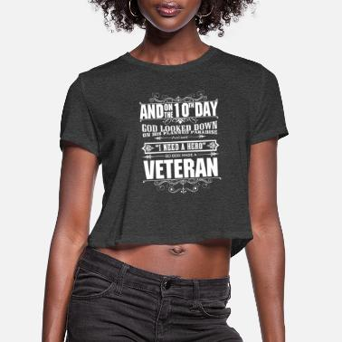 Korean War Veteran Veteran korean war veteran veterans against poli - Women's Cropped T-Shirt