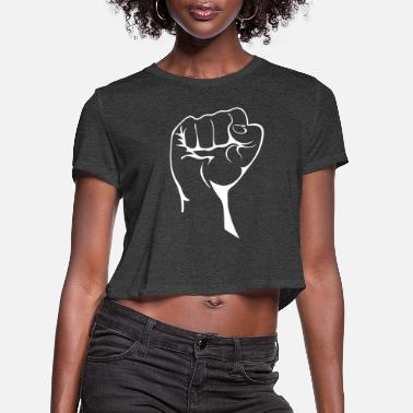 Demo Demo Fist - Women's Cropped T-Shirt