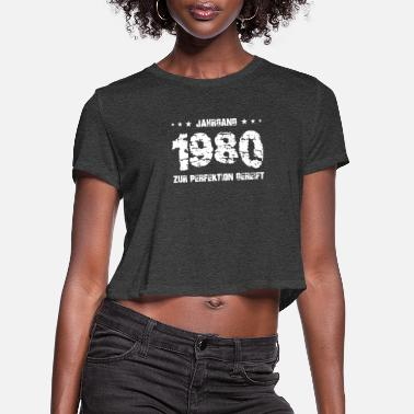 Mature 1980 vintage 40th birthday forty years retro legen - Women's Cropped T-Shirt