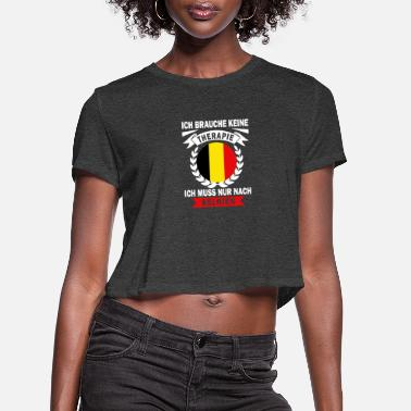 Patriot I do not need therapy Belgium home in Brussels - Women's Cropped T-Shirt