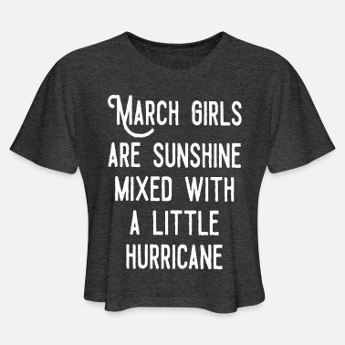 March March Girls - Women's Cropped T-Shirt