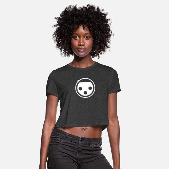 Sound T-Shirts - XLR Connector - Women's Cropped T-Shirt deep heather
