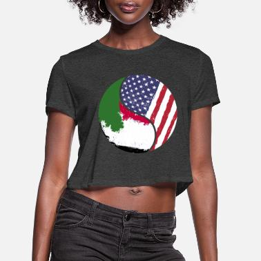 Immigrant Foreigner Stranger USA Immigrant - Women's Cropped T-Shirt