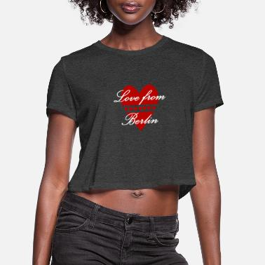 Pankow Love from Berlin - Women's Cropped T-Shirt
