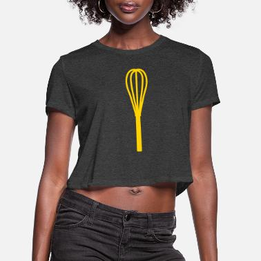 Whisk whisk - Women's Cropped T-Shirt