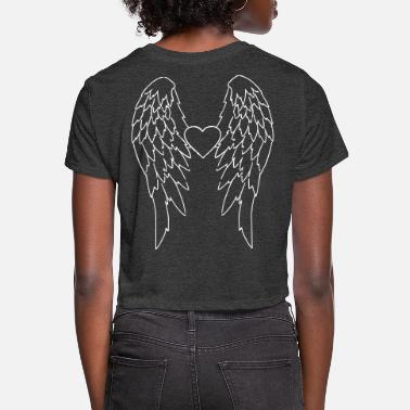 Wings Angel Wings_V2 - Women's Cropped T-Shirt