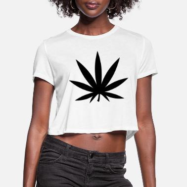 Leaf weed_f1 - Women's Cropped T-Shirt