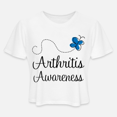 Arthritis Awareness Arthritis Awareness Butterfly - Women's Cropped T-Shirt