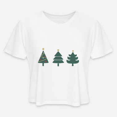 Christmas Tree Set - Women's Cropped T-Shirt