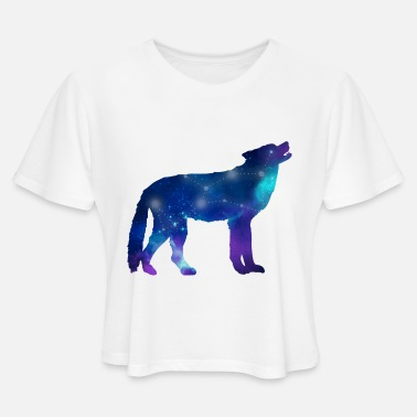 Astrology Wolf Lupus Constellation Astrology - Women's Cropped T-Shirt