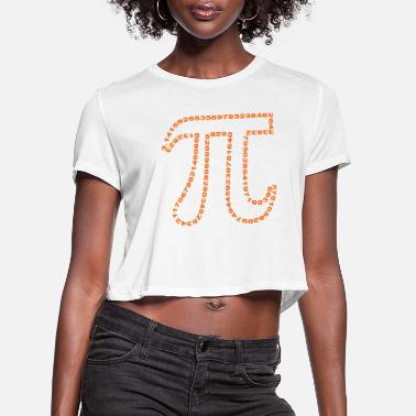 University pi outline - Women's Cropped T-Shirt