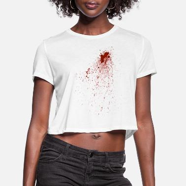 Bloodstain bloodstains - Women's Cropped T-Shirt