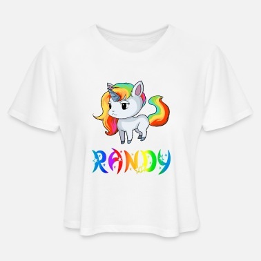 Randi Present Randy Unicorn - Women's Cropped T-Shirt