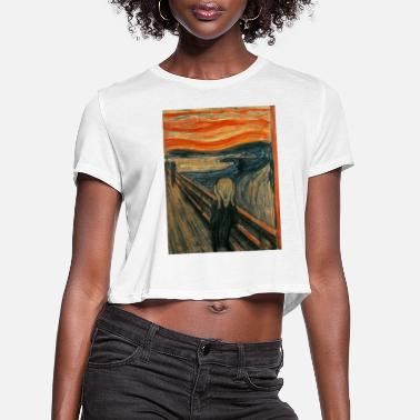Scream The Scream (Edvard Munch) - Women's Cropped T-Shirt