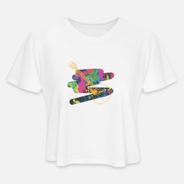 Acoustic Guitar Acoustic Guitar - Women's Cropped T-Shirt