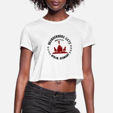 Word Brandenburg Gate Berlin - Women's Cropped T-Shirt
