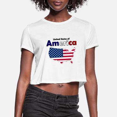 United United States of America - Women's Cropped T-Shirt