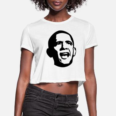Angry Obama - Women's Cropped T-Shirt