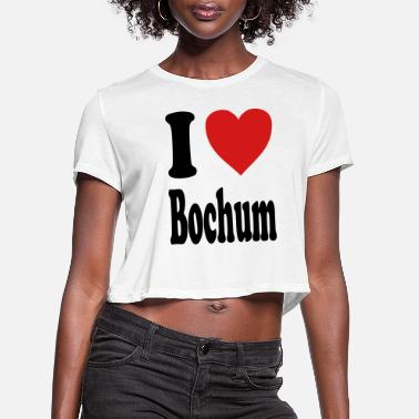Nordrhein I love Bochum (variable colors!) - Women's Cropped T-Shirt