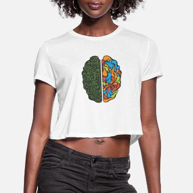 Creative Left brain and right brain - creativity and logic - Women's Cropped T-Shirt