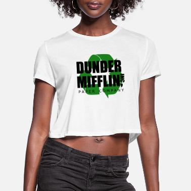 Series dunder miflin recycle 2 - Women's Cropped T-Shirt