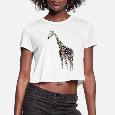 Serengeti Black Giraffe - Women's Cropped T-Shirt